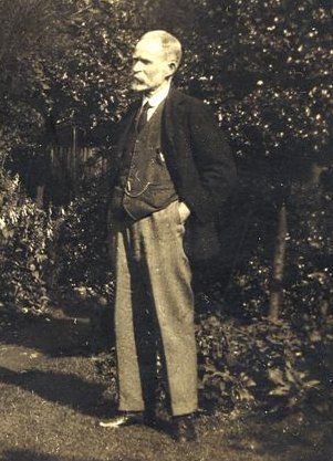 Fred Netherwood in his garden in Birmingham